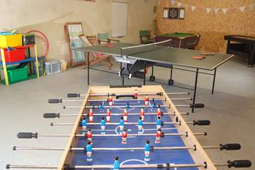 Hopefully you won't have any rainy days, but if you do, this excellent games room is just the answer.