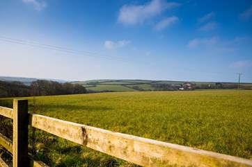 The wonderful views where you are surrounded by beautiful countryside and the sea in the distance.