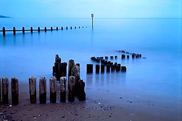 Nearby Dawlish Warren at dawn.