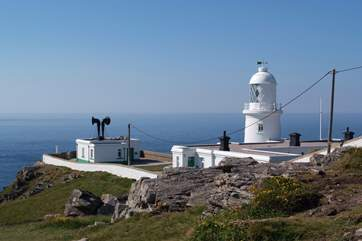 Pendeen lighthouse is approximately four miles distant.