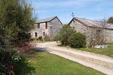 Perran's Barn is set in attractive, well established gardens.