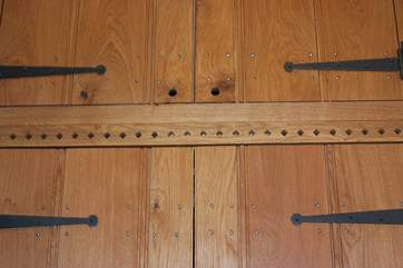 The cottage has bespoke doors and lovely details.