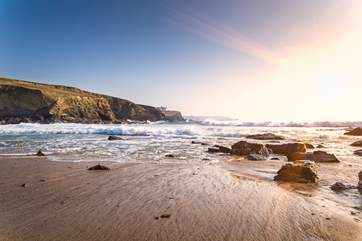 The local beaches are rugged and beautiful and some have been featured in the TV series Poldark.