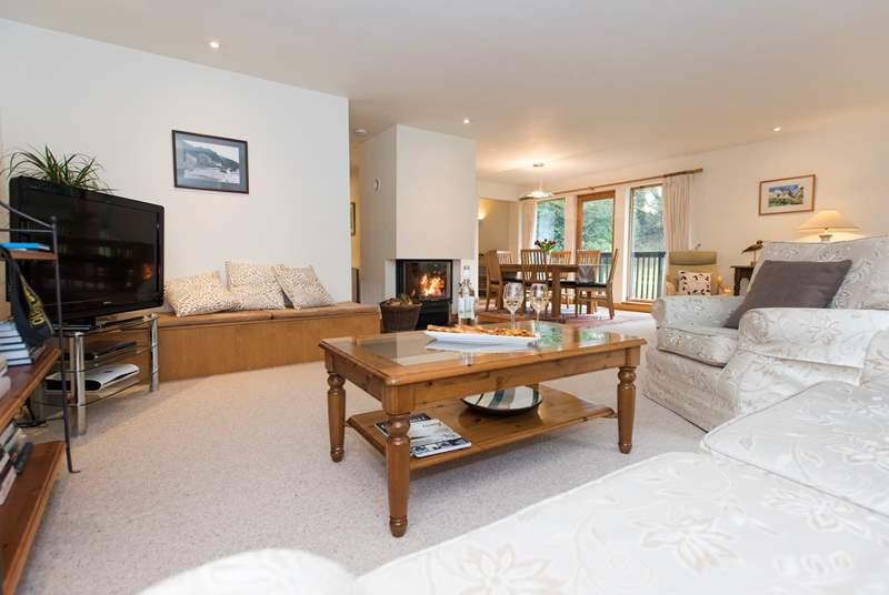 The wonderfully spacious open plan living-room.