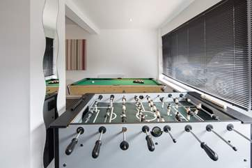 Table football and pool available.