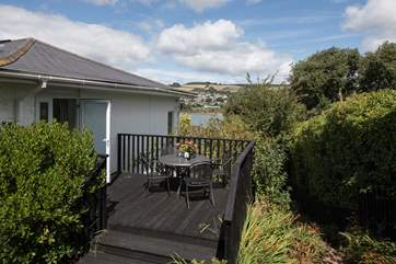 The private decking which leads out from Bedroom one is perfect to enjoy a spot of breakfast with a view.