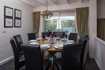 The dining area provides a great enviroment to discuss the days events, and plan tommorows.