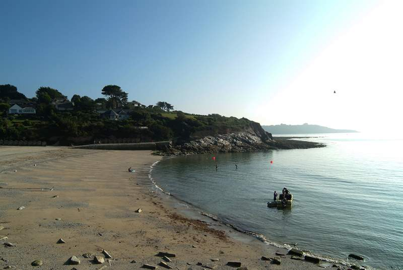 Watersport lessons can be booked from Swanpool beach, where a delightful cafe and popular bistro will keep landlubbers happy!