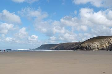 Chapel Porth on the north coast, home of the famous hedgehog icecream.