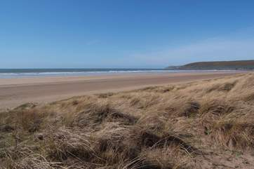 North Devon is famed for its spectacular wide sandy beaches.