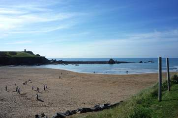 Summerleaze beach at Bude - good for a bucket and spade day out.