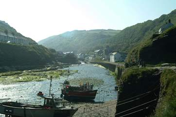 Looking back towards Boscastle on a misty morning in summer.