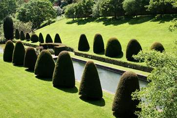 These are the stunning gardens at Mapperton House near Beaminster, filming location for Far from the Madding Crowd.