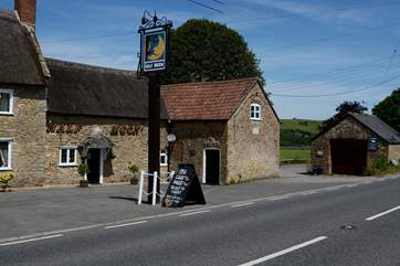 The Half Moon pub in Melplash is one mile away.