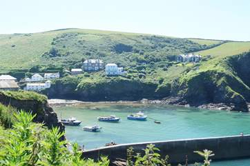 The pretty village of Port Isaac is just along the coast.