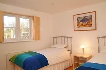 The twin bedroom (bedroom 1) has a wet-room next door.
