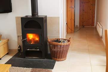 The wood-burner will keep you toasty on those cooler days and evenings.