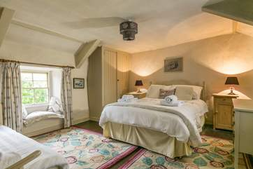 The double bedroom has been furnished in keeping with a Grade II Listed cottage.