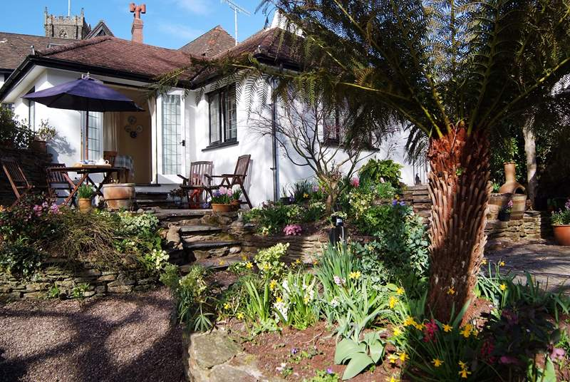 Little Bessemer is tucked away in the heart of this beautiful village, with a wonderful sub-tropical garden - inspiring whatever the time of year.