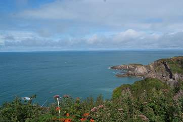 The coast line in this part of North Devon is beautiful. A mixture of stunning cliffs and sandy coves.