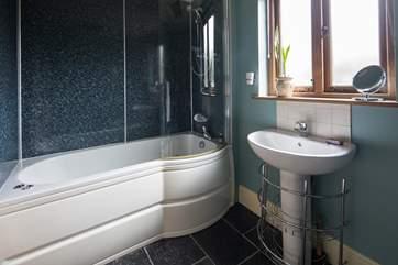 The bathroom with whirlpool bath.