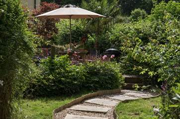 Every inch of the garden is lovingly manicured and maintained.