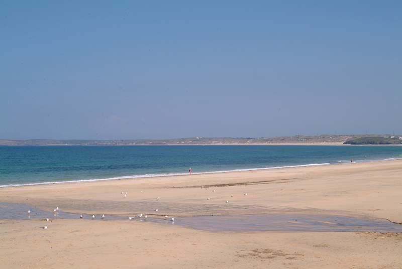 Carbis Bay beach is down the hill.