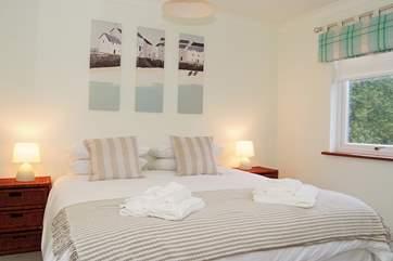 Bedroom 1 (ground floor) has 'zip and link'  (double or twin) beds.