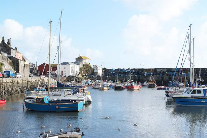 Nearby Mevagissey is a quintessential fishing village.