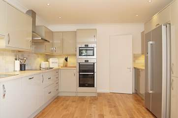 There is a double oven and combination microwave in the kitchen, perfect for catering for big family groups.