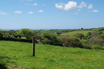 Wonderful views across the countryside, views of RNAS Culdrose and the blue seas on The Lizard.