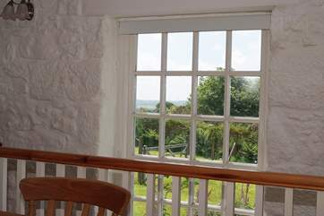 The large picture window with countryside views whilst you dine.