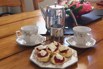A lovely home-made cream tea on arrival...yum!