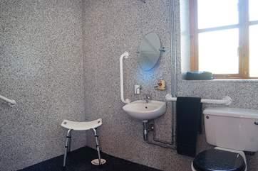 The wet-room.