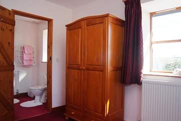 This bedroom has an en suite bathroom.