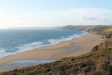 Long Sands at Whitsand Bay, just a few miles away.