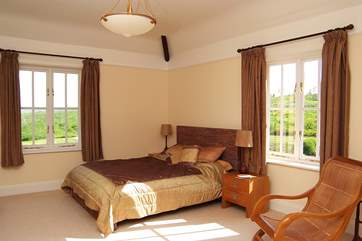 There are country views from most of the bedrooms. This is Bedroom 2.