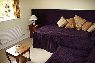 Bedroom 1 on the ground floor can either be a snug with a TV or can be made up with 'zip and link' double or twin beds.