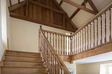 A very impressive staircase.