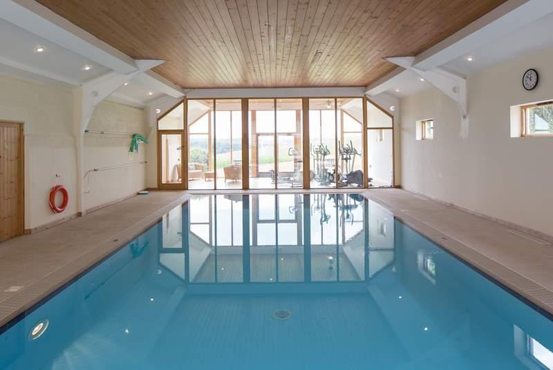 The amazing indoor pool.