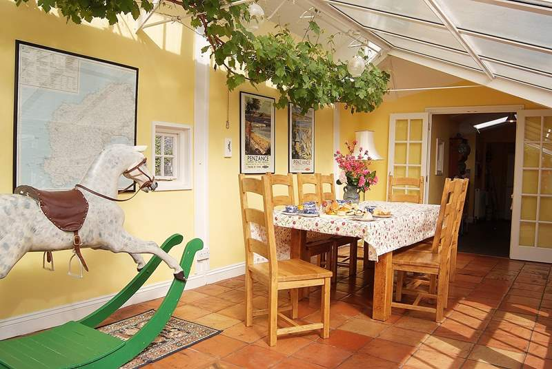 This is the beautiful dining-area within the conservatory.