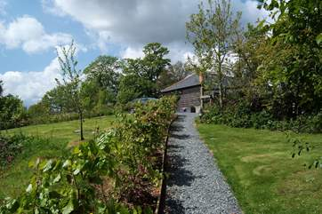 The footpath from the parking-area down to the cottage.
