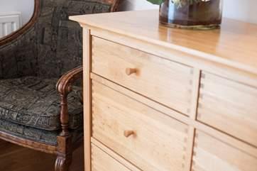 Solid oak furniture.