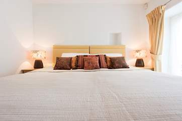 Bedroom 2 has 'zip and link' beds (super-king double or two single beds).