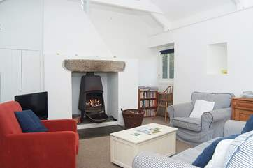 The sitting-area of the open plan living-room.