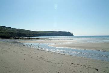 Carne beach has a car park next to the sands, perfect for families with young children.