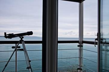 Use the telescope to spot Eddystone Lighthouse.