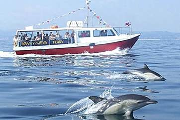 The Mevagissey to Fowey ferry runs throughout the summer months....dolphin escort not guaranteed!