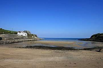 Nearby Portmellon beach at low tide.