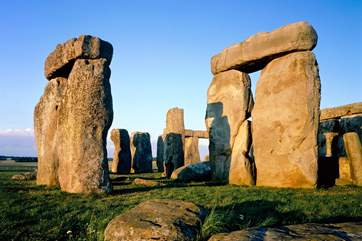 Stonehenge, a prehistoric monument and World Heritage Site is a 40 minute drive away (photograph copyright English Heritage).
